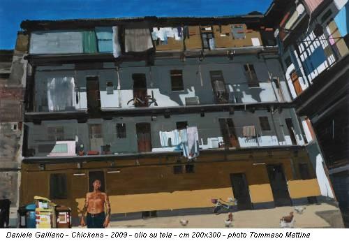 Daniele Galliano - Chickens - 2009 - olio su tela - cm 200x300 - photo Tommaso Mattina