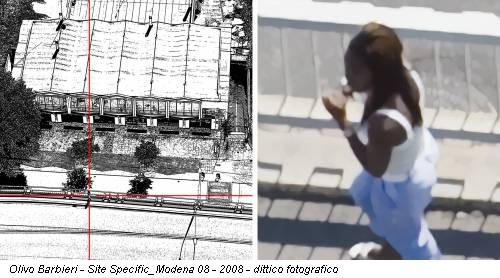 Olivo Barbieri - Site Specific_Modena 08 - 2008 - dittico fotografico