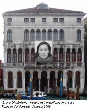 Braco Dimitrijevic - veduta dell'installazione presso Palazzo Ca' Farsetti, Venezia 2009