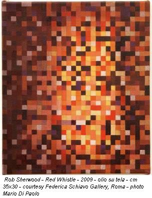Rob Sherwood - Red Whistle - 2009 - olio su tela - cm 35x30 - courtesy Federica Schiavo Gallery, Roma - photo Mario Di Paolo