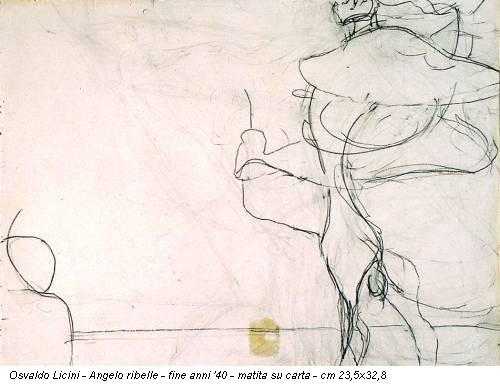 Osvaldo Licini - Angelo ribelle - fine anni '40 - matita su carta - cm 23,5x32,8