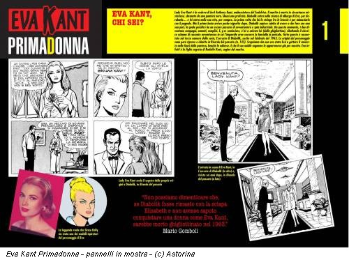 Eva Kant Primadonna - pannelli in mostra - (c) Astorina