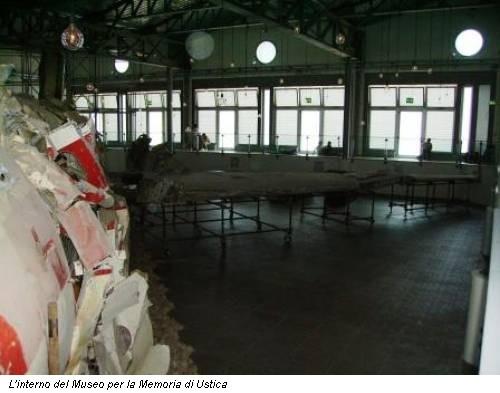 L'interno del Museo per la Memoria di Ustica