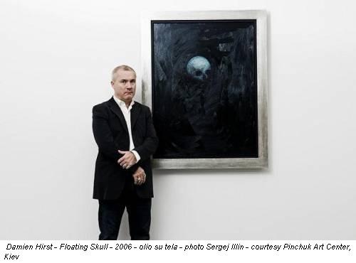 Damien Hirst - Floating Skull - 2006 - olio su tela - photo Sergej Illin - courtesy Pinchuk Art Center, Kiev