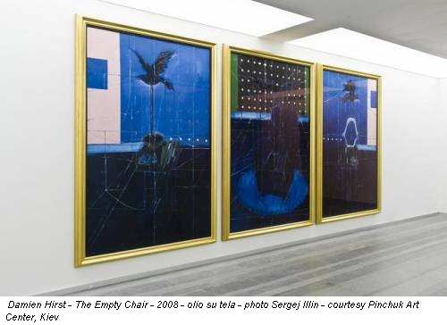 Damien Hirst - The Empty Chair - 2008 - olio su tela - photo Sergej Illin - courtesy Pinchuk Art Center, Kiev