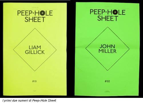 I primi due numeri di Peep-Hole Sheet