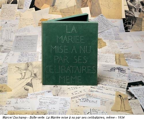 Marcel Duchamp - Boîte verte. La Mariée mise à nu par ses celibataires, même - 1934