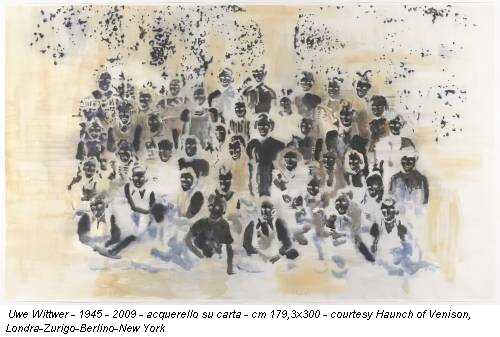 Uwe Wittwer - 1945 - 2009 - acquerello su carta - cm 179,3x300 - courtesy Haunch of Venison, Londra-Zurigo-Berlino-New York