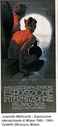 Leopoldo Metlicovitz - Esposizione internazionale di Milano 1906 - 1906 - Castello Sforzesco, Milano