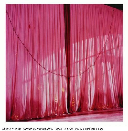 Sophie Rickett - Curtain (Glyndebourne) - 2008 - c-print - ed. di 5 (Alberto Peola)