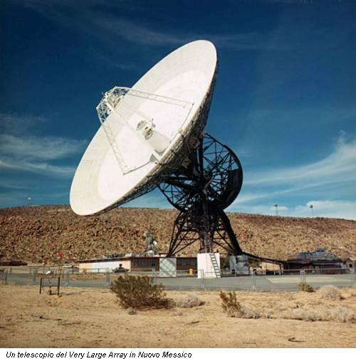 Un telescopio del Very Large Array in Nuovo Messico