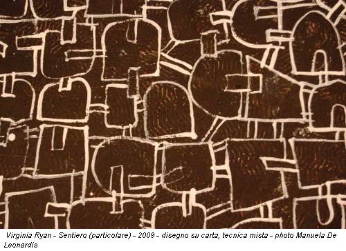 Virginia Ryan - Sentiero (particolare) - 2009 - disegno su carta, tecnica mista - photo Manuela De Leonardis
