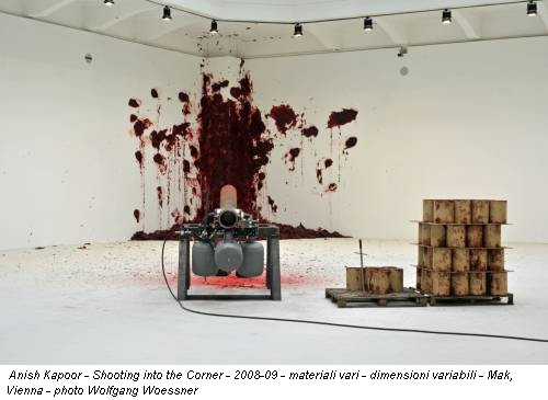 Anish Kapoor - Shooting into the Corner - 2008-09 - materiali vari - dimensioni variabili - Mak, Vienna - photo Wolfgang Woessner
