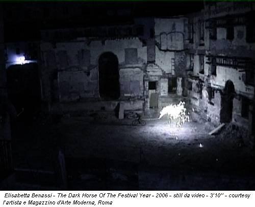 Elisabetta Benassi - The Dark Horse Of The Festival Year - 2006 - still da video - 3'10'' - courtesy l'artista e Magazzino d'Arte Moderna, Roma