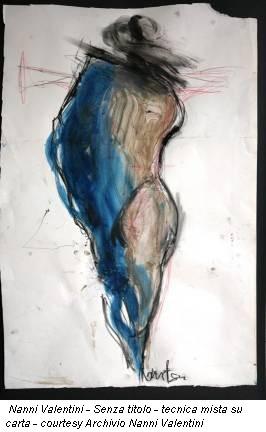 Nanni Valentini - Senza titolo - tecnica mista su carta - courtesy Archivio Nanni Valentini