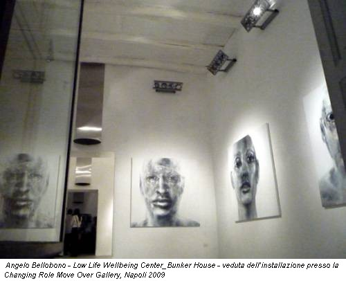 Angelo Bellobono - Low Life Wellbeing Center_Bunker House - veduta dell'installazione presso la Changing Role Move Over Gallery, Napoli 2009
