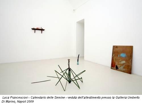 Luca Francesconi - Calendario delle Semine - veduta dell'allestimento presso la Galleria Umberto Di Marino, Napoli 2009