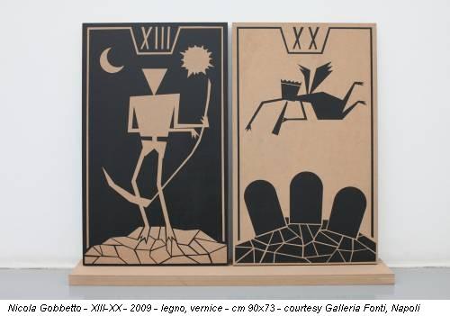 Nicola Gobbetto - XIII-XX - 2009 - legno, vernice - cm 90x73 - courtesy Galleria Fonti, Napoli