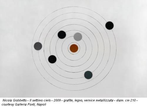 Nicola Gobbetto - Il settimo cielo - 2009 - grafite, legno, vernice metallizzata - diam. cm 210 - courtesy Galleria Fonti, Napoli