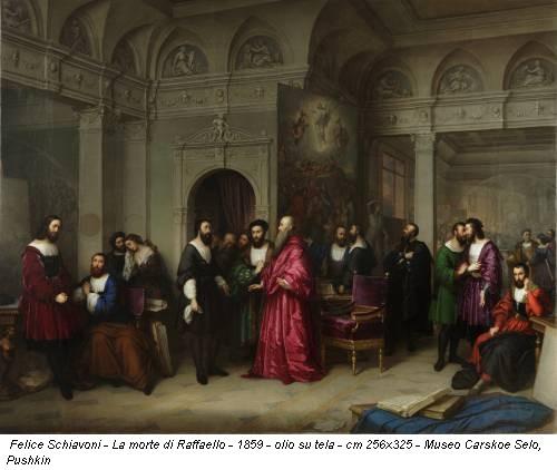 Felice Schiavoni - La morte di Raffaello - 1859 - olio su tela - cm 256x325 - Museo Carskoe Selo, Pushkin
