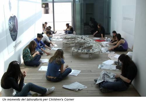 Un momento del laboratorio per Children's Corner