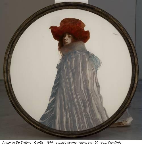 Armando De Stefano - Odette - 1974 - acrilico su tela - diam. cm 150 - coll. Ciardiello