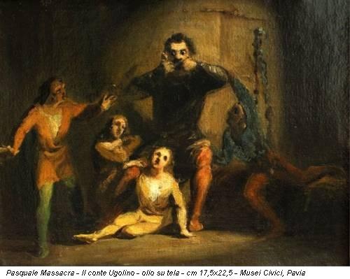 Pasquale Massacra - Il conte Ugolino - olio su tela - cm 17,5x22,5 - Musei Civici, Pavia