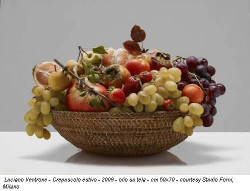 Luciano Ventrone - Crepuscolo estivo - 2009 - olio su tela - cm 50x70 - courtesy Studio Forni, Milano