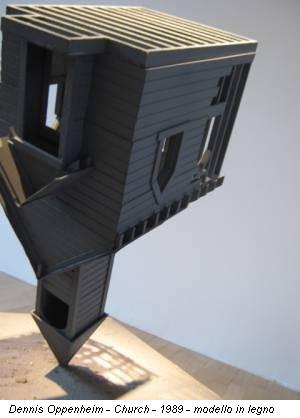 Dennis Oppenheim - Church - 1989 - modello in legno