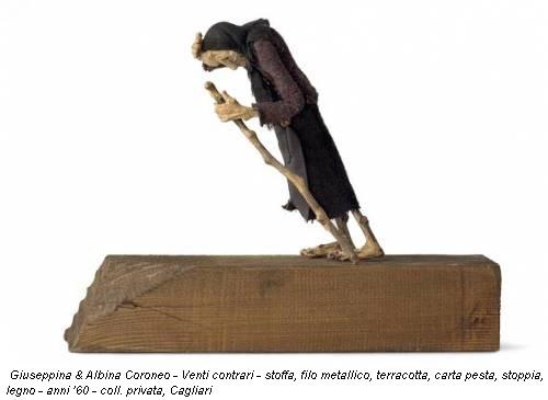 Giuseppina & Albina Coroneo - Venti contrari - stoffa, filo metallico, terracotta, carta pesta, stoppia, legno - anni '60 - coll. privata, Cagliari