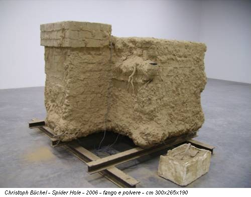 Christoph Büchel - Spider Hole - 2006 - fango e polvere - cm 300x265x190