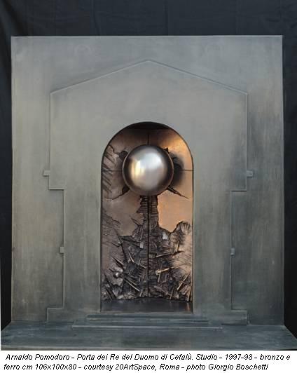 Arnaldo Pomodoro - Porta dei Re del Duomo di Cefalù. Studio - 1997-98 - bronzo e ferro cm 106x100x80 - courtesy 20ArtSpace, Roma - photo Giorgio Boschetti