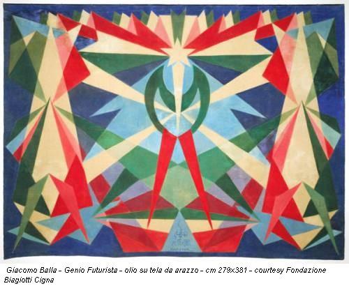 Giacomo Balla - Genio Futurista - olio su tela da arazzo - cm 279x381 - courtesy Fondazione Biagiotti Cigna