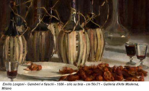 Emilio Longoni - Gamberi e fiaschi - 1886 - olio su tela - cm 56x71 - Galleria d'Arte Moderna, Milano