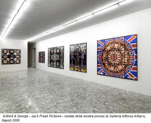 Gilbert & George - Jack Freak Pictures - veduta della mostra presso la Galleria Alfonso Artiaco, Napoli 2009