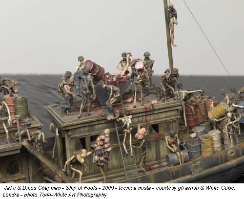 Jake & Dinos Chapman - Ship of Fools - 2009 - tecnica mista - courtesy gli artisti & White Cube, Londra - photo Todd-White Art Photography
