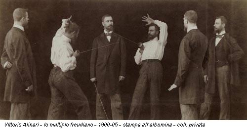 Vittorio Alinari - Io multiplo freudiano - 1900-05 - stampa all'albumina - coll. privata