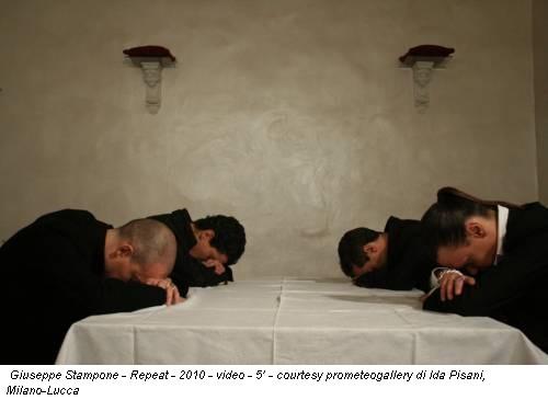 Giuseppe Stampone - Repeat - 2010 - video - 5' - courtesy prometeogallery di Ida Pisani, Milano-Lucca