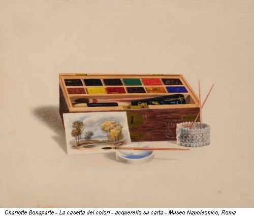 Charlotte Bonaparte - La casetta dei colori - acquerello su carta - Museo Napoleonico, Roma