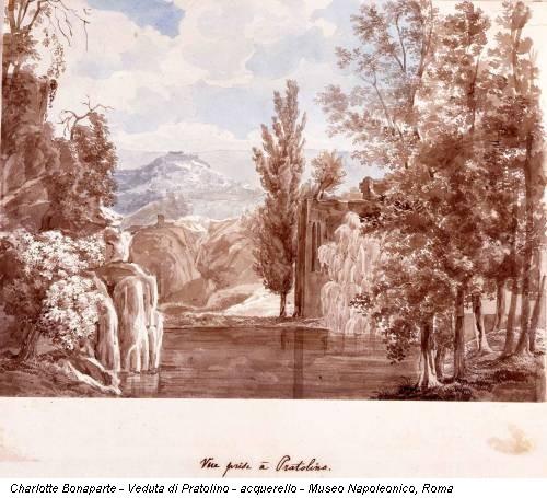 Charlotte Bonaparte - Veduta di Pratolino - acquerello - Museo Napoleonico, Roma