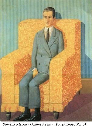 Domenico Gnoli - Homme Assis - 1966 (Amedeo Porro)