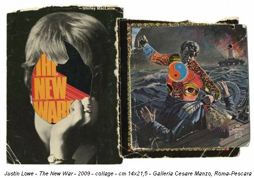 Justin Lowe - The New War - 2009 - collage - cm 14x21,5 - Galleria Cesare Manzo, Roma-Pescara