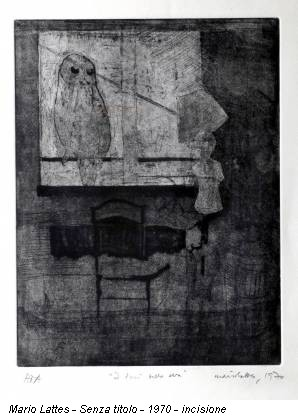 Mario Lattes - Senza titolo - 1970 - incisione