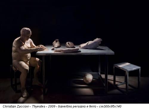 Christian Zucconi - Thyestes - 2009 - travertino persiano e ferro - cm300x95x140