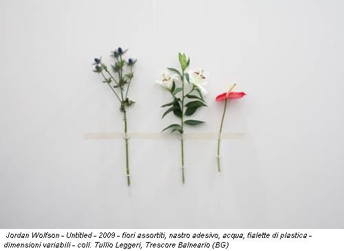 Jordan Wolfson - Untitled - 2009 - fiori assortiti, nastro adesivo, acqua, fialette di plastica - dimensioni variabili - coll. Tullio Leggeri, Trescore Balneario (BG)