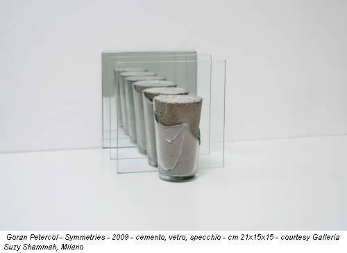 Goran Petercol - Symmetries - 2009 - cemento, vetro, specchio - cm 21x15x15 - courtesy Galleria Suzy Shammah, Milano