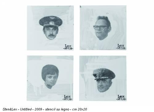 Sten&Lex - Untitled - 2009 - stencil su legno - cm 20x20