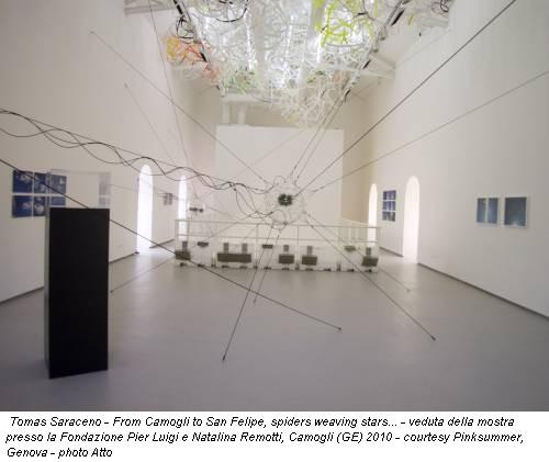 Tomas Saraceno - From Camogli to San Felipe, spiders weaving stars... - veduta della mostra presso la Fondazione Pier Luigi e Natalina Remotti, Camogli (GE) 2010 - courtesy Pinksummer, Genova - photo Atto