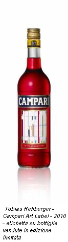 Tobias Rehberger - Campari Art Label - 2010 - etichetta su bottiglie vendute in edizione limitata