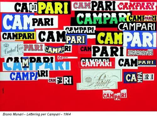 Bruno Munari - Lettering per Campari - 1964
